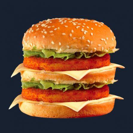 Dupla húsos sajtburger